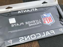 1 Atlanta Falcons Black Metal Vehicle License Plate Frame Ni