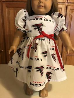 "18"" Doll Clothes  Dress  Atlanta Falcons Cotton Fabric Ameri"