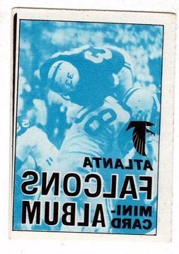 1969 Topps Atlanta Falcons Mini-Card Album #1, Near Mint Con