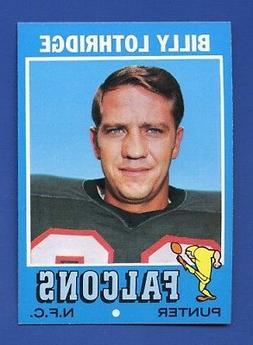 1971 Topps # 29 Billy Lothridge  Atlanta Falcons  MINT  High
