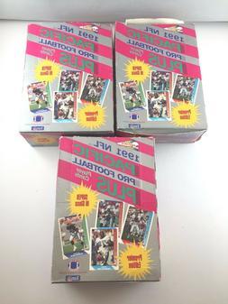1991 PACIFIC NFL FOOTBALL SERIES 1 - 36 PACKS PER HOBBY BOX