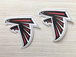 2x atlanta falcons car window wall bumper