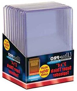 5 Ultra Pro 180pt Top Loader Packs - 10 Toploaders Per Pack