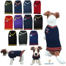 NFL Fan Gear Dog Sweater Coat for Pets Dogs - PICK YOUR TEAM