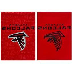 Atlanta Falcons 12.5 x 18 Glitter Suede  Flag NFL Tailgate B