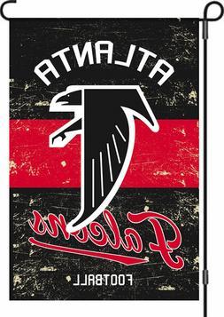 """Atlanta Falcons 12.5"""" x 18"""" Vintage Linen Garden Flag"""
