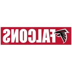 ATLANTA FALCONS ~ 3x12 Self Adhesive NFL Bumper Sticker ~ Ne