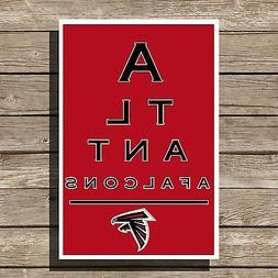 Atlanta Falcons Art Football NFL Eyechart Poster Man Cave De