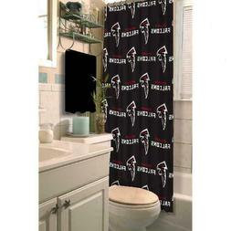 Atlanta Falcons Bathroom Shower Curtain NFL 72 x 72 Football