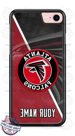 Atlanta Falcons Black Red Logo Personalized Phone Case for i
