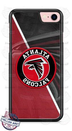 Atlanta Falcons Black Red Logo Phone Case for iPhone Samsung