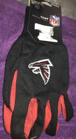 Atlanta Falcons Black Utility Gloves   NEW NFL Football