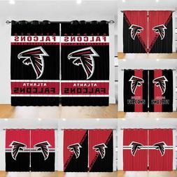 Atlanta Falcons Blackout Curtain 2 Panels Living Room Bedroo