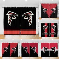 Atlanta Falcons Blackout Window Curtain Drapes for Bedroom L