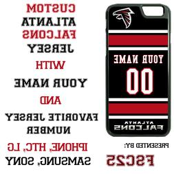 Atlanta Falcons Blk Jersey Phone Case Cover Customized for i