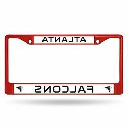 Atlanta Falcons Chrome License Plate Frame Tag Cover Car/Aut