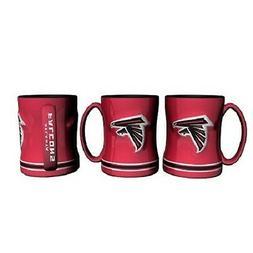 Atlanta Falcons Coffee Mug Relief Sculpted Team Color Logo -