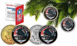 ATLANTA FALCONS Colorized JFK Half Dollar US 2-Coin Set NFL