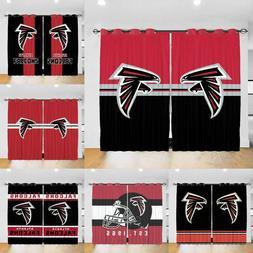 Atlanta Falcons Curtains Fans 2PCS Window Drape Living Room