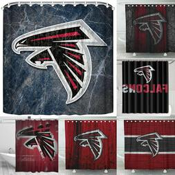 Atlanta Falcons Design Fabric Waterproof Shower Curtain Bath