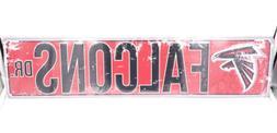 Atlanta Falcons DR Licensed NFL Distressed Street Aluminum W