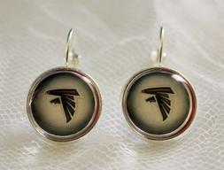 Atlanta Falcons Earrings made from Football Trading Cards Gr