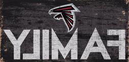 "Atlanta Falcons FAMILY Football Wood Sign - NEW 12"" x 6""  De"
