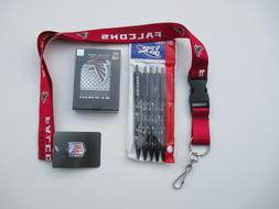 Atlanta Falcons fan pack special includes Lanyard, 5 pack pe