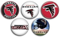 Atlanta Falcons five 1 inch button sport pin badge football