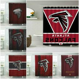 Atlanta Falcons Football Bathroom Shower Curtains Waterproof