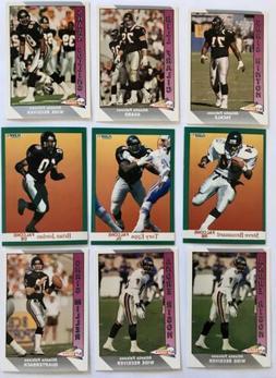 Atlanta Falcons Football card team Set 9 Cards Misc 1990s