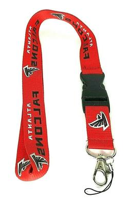 NFL Atlanta Falcons Football Lanyard Key Chain W/ Detachable