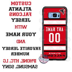 ATLANTA FALCONS FOOTBALL PERSONALIZED PHONE CASE FITS iPHONE