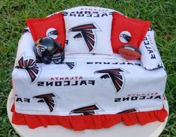 ATLANTA FALCONS Football Sofa Couch Tissue Box Cover w/ Helm
