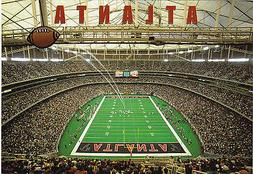 ATLANTA FALCONS GEORGIA DOME FOOTBALL STADIUM POSTCARD - AT
