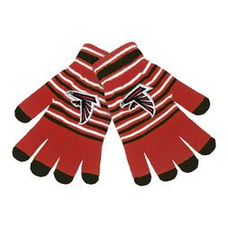 Atlanta Falcons Gloves Acrylic Stripe Knit Sports Logo Winte