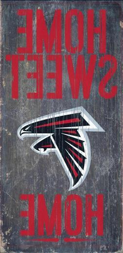 """Atlanta Falcons Home Sweet Home Wood Sign - NEW 6"""" x 12"""" Wal"""
