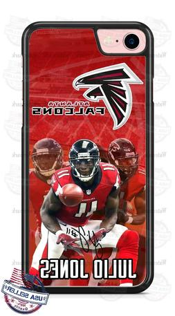 Atlanta Falcons Julio Jones Red Phone Case for iPhone Samsun