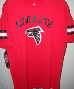 ATLANTA FALCONS KIDS YOUTH X-LARGE SIZE 18 RED TEE-SHIRT WIT
