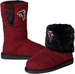 NFL Atlanta Falcons Knit Team Color High End Button Women Bo