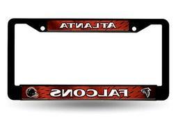 Atlanta Falcons LBL BLACK Plastic Frame License Plate Tag Co