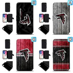 Atlanta Falcons Leather Flip Case For iPhone X Xs Max Xr 7 8
