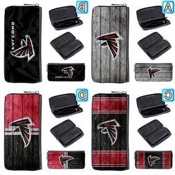 Atlanta Falcons Leather Wallet Purse Zip Around Women Handba