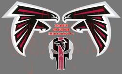 "Atlanta Falcons Logos  Sticker Decal Car 4""-12"" Full Color A"