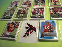 Atlanta Falcons lot of 10 Team sets includes 2018 & Julio Jo