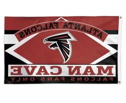 Atlanta Falcons Man Cave Fans Only NFL Flag 3' x 5' Banner S