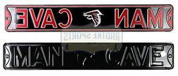 Atlanta Falcons Man Cave Licensed Authentic Steel 36x6 Black