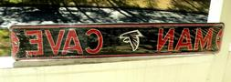 ATLANTA FALCONS Man Cave Steel Sign: BRAND NEW Black & Red S