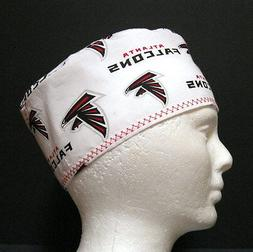 Atlanta Falcons Mens Scrub Hat, Chemo Hat, Skull Cap, Doctor