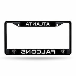 Atlanta Falcons Metal BLACK CHROME License Plate Frame Auto